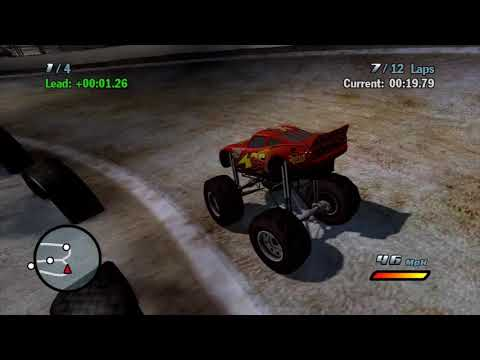 Sneak JR - Cars 1 The Movie Game 360 - Lightning Mcqueen VS Pro Road To The Piston Cup W Cheats [15]