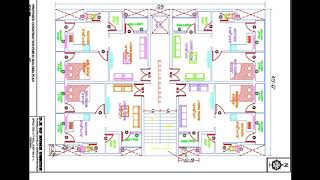 45X65 Ft APARTMENT HOUSE PLAN