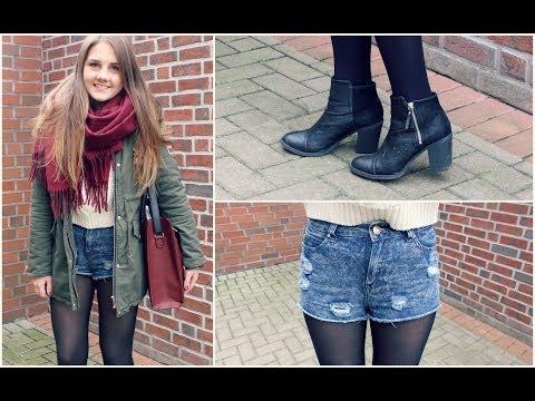 Shorts im Winter kombinieren - OUTFIT + Tipps & Tricks