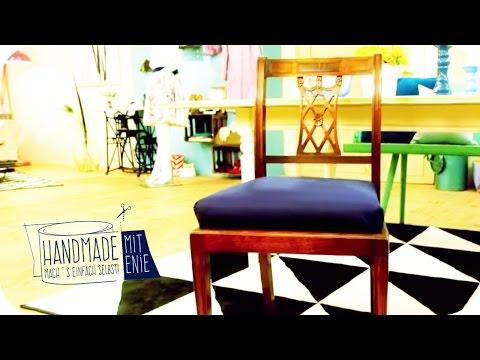 Neues Polster für alten Stuhl | Handmade mit Enie - Mach's einfach selbst | sixx
