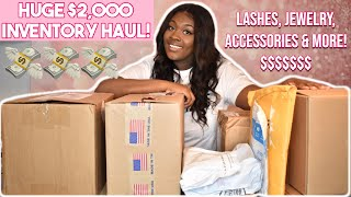 HUGE $2000 BUSINESS INVENTORY UNBOXING HAUL! | LIFE OF AN ENTREPRENEUR