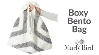 How To Crochet Boxy Bento Bag || Crochet Market Bag || Crochet Boho Bag