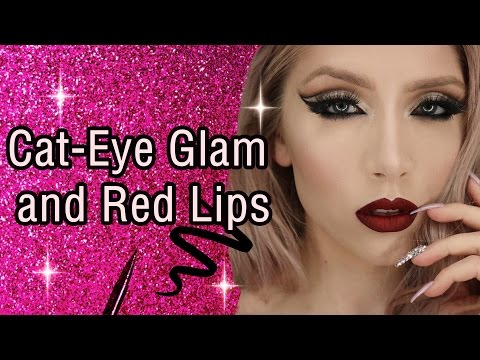 Holiday Makeup Looks 2018: Cat Eye Glam And Red Lip Tutorial | YouCam Makeup