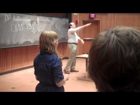 Guy pretends to be chemistry professor on first day of college