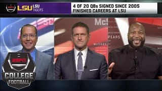 Why LSU is 'the Cleveland Browns of college football' as far as QBs | College Football Live | ESPN - Video Youtube