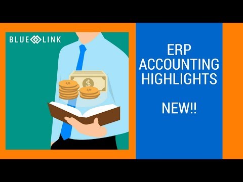 ERP Accounting Software Tutorial - Accounting Highlights! [NEW ...