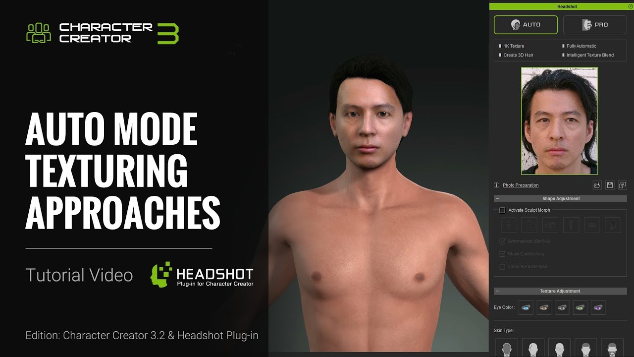 Headshot - Auto Mode Texturing