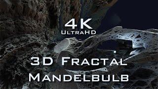 4K Fractal Death Valley - Mandelbulb 3D fractal UltraHD 2160p
