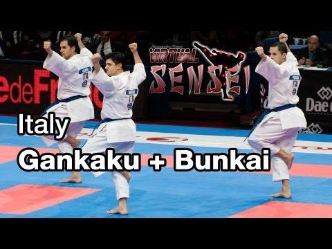 Italy male team - Kata Gankaku + bunkai - Final 21st WKF World Karate Championships Paris Bercy 2012