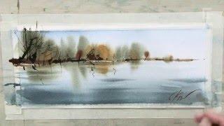 Сергей Курбатов. Отражение. Акварель / Sergey Kurbatov. Reflection. Watercolor