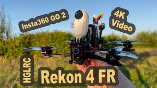 HGLRC Rekon 4 FR Freestyle + Insta360 GO 2 - 4K Video Footage