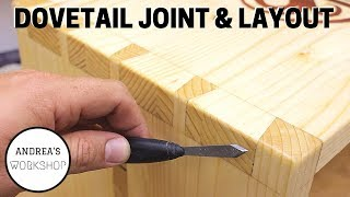 How to Layout and Cut Dovetails using Hand Tools - Ep 063