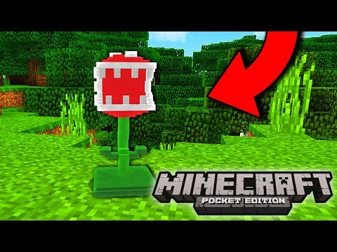 Minecraft SUPER MARIO MOD! - FIRE FLOWERS, BOSSES, ITEMS, & MORE! - (Minecraft PE Mods)
