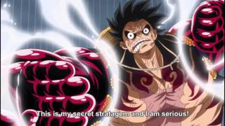 One Piece  Luffy Gear 4 Transformation ENG SUBBED