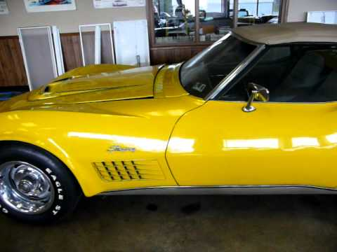 1968 To 1972 Corvettes For Sale >> 1972 Yellow Corvette Convertible LT-1 Owned by a GM dealer
