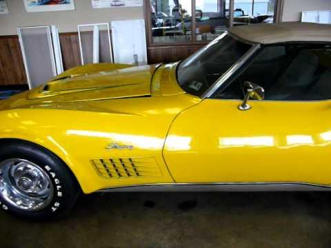 1972 Sunflower Yellow Corvette LT1 Convertible Video