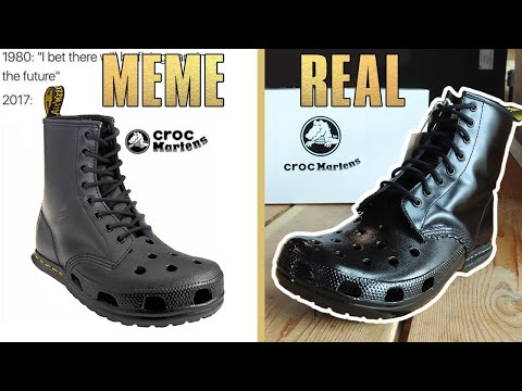Guy creates a monstrosity by combining doc martins with crocs