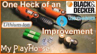 USB & Li-ion Upgrading dead Black & Decker Screwdriver - 892