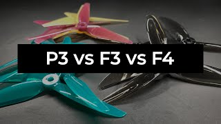 HQ Prop Ethix P3, Gemfan F3 & F4 back-to-back flights and thoughts || Food For Flight Ep.5