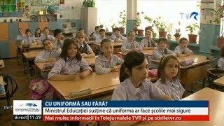 Ministrul Educației Susține Că Uniformele Pot Face școlile Mai Sigure