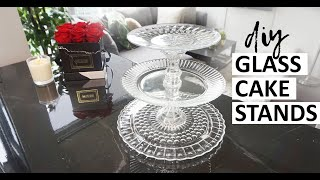 DIY Glass Cake Stands For Wedding (SO EASY)  | Cheap Diy 3 Tier Cupcake Stand