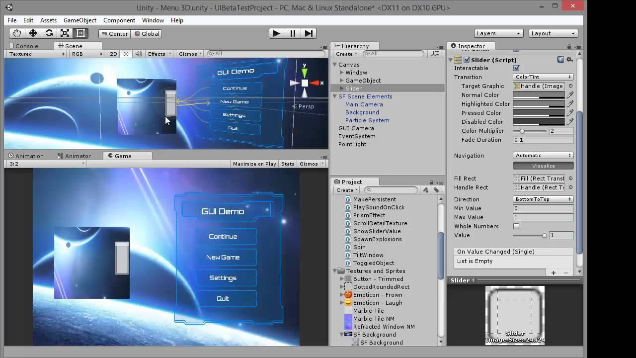 Unity 4.6 - UI - Scroll rect et images mask - Tuto FR