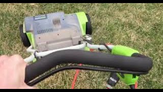 🍒 **How and When to Dethatch Your Lawn** (Greeworks Dethatcher Review) - Spring and Fall Lawn Care