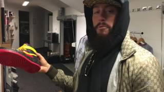 Enzo Amore gets a kick out of his new sneakers