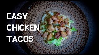 Easy SAM THE COOKING GUY Grilled Chicken Tacos (w/ Avocado Cream Sauce)