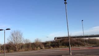Airbus A380 Last Landing in Filton