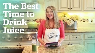 Juicing Q&A: The best time to drink juice