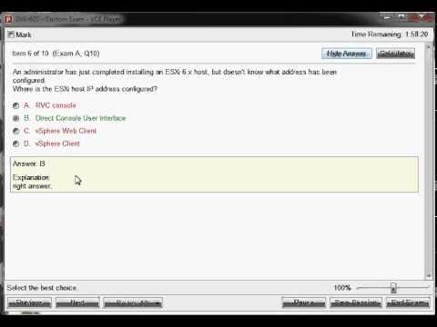 2V0-620 vSphere 6 Foundations Beta Exam - YouTube