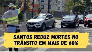 MAIO AMARELO: Santos reduz mortes no trânsito em mais de 60%