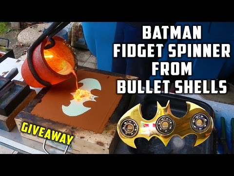 Casting Brass Batman Fidget Spinner from Bullet Shells