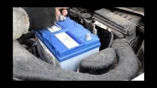 Установка аккумулятора на Nissan X-Trail 2.5 бензин - Varta Blue 70Ah JR+