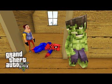MİNECRAFT HULK İLE WİLSON'IN EVİNDEN SPİDER-MAN İ KURTARDIK (GTA 5 MODS)