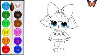Как нарисовать КУКЛУ ЛОЛ / мультик раскраска КУКЛА ЛОЛ для детей / Раскраски малышам