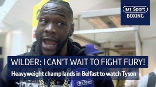 Deontay Wilder arrives in Belfast ahead of Tyson Fury fight! - Video Youtube