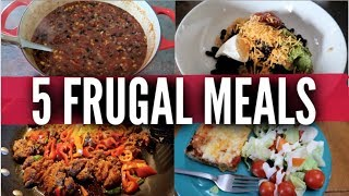 Five Frugal Meals For Large Families | Budget Dinners | Price Breakdowns From Frugal Fit Mom