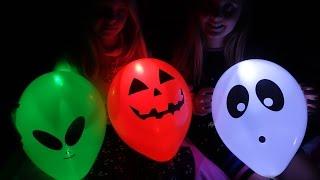 DIY Хэллоуин / Декор комнаты своими руками 👏 Воздушные шарики, которые светятся в темноте!! Радужки