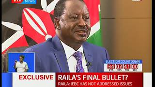 Raila Odinga claims IEBC altered results in 10,000 polling stations