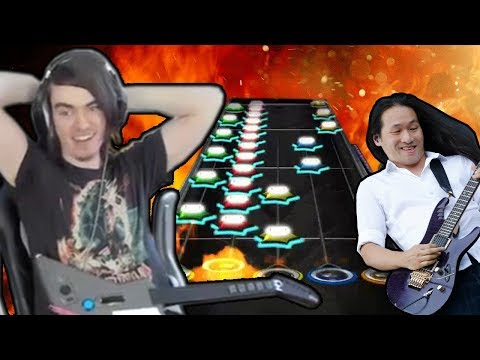 "Guitar Hero Twitch streamer ""randyladyman"" has just become the first person to 100% FC ""Through the Fire and Flames"" at 150% speed."