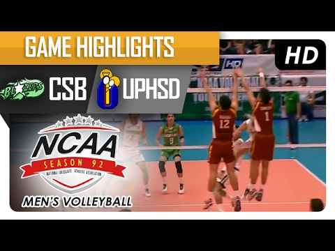 CSB vs UPHSD | Finals Game Highlights | NCAA 92 Men's Volleyball