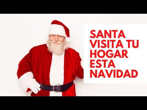 Santa te visita en navidad