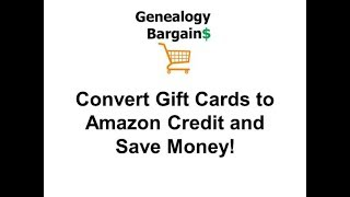 Convert Gift Cards to Amazon Credit and Save Money