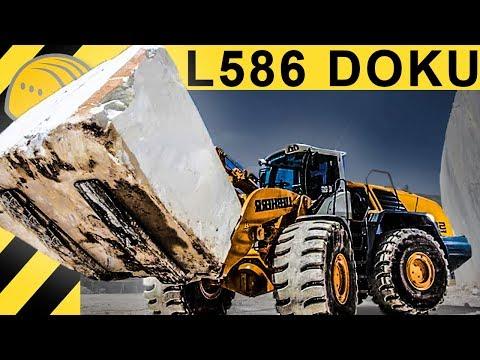 Wie wird Carrara Marmor produziert? Doku Marmor Steinbruch & Liebherr Radlader L586 Einsatz
