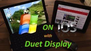 Microsoft Windows on Apple iOS with Duet Display