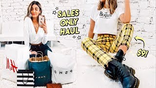 shopping ONLY sales…  Zara, H&M, Topshop SALE HAUL ☆