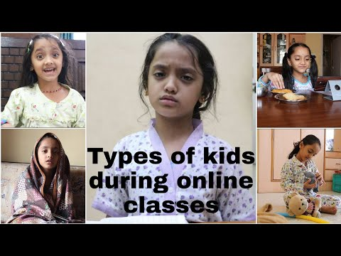 Types of kids during online class E learning challenges at home Primary kids online classes