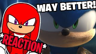 "Knuckles Reacts To: ""CARTOON SONIC in Sonic 2019 Trailer"""